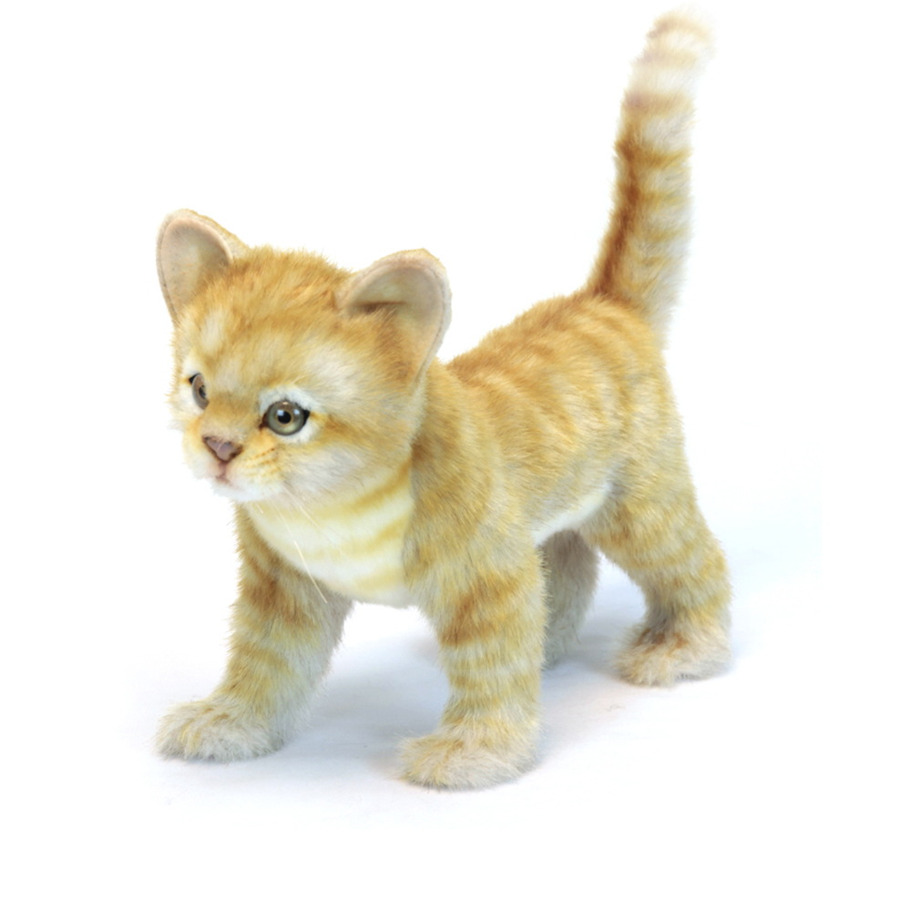 Купить Мягкая игрушка - Котёнок стоящий рыжий, 30 см., Hansa