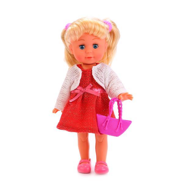 Купить Кукла Полина 33 см, озвученная, стихи и песни А. Барто, закрываются глаза, Карапуз