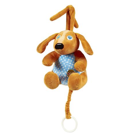 Игрушка-подвеска музыкальная СобакаДетские погремушки и подвесные игрушки на кроватку<br>Игрушка-подвеска музыкальная Собака<br>