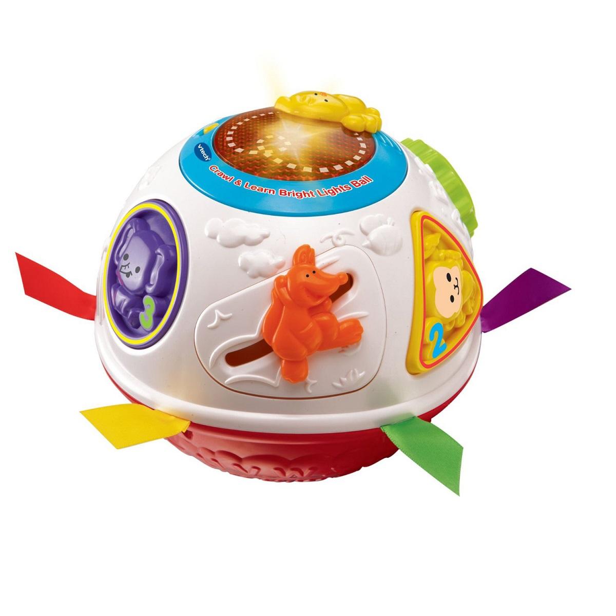 Вращающийся и обучающий разноцветный мяч со световыми и звуковыми эффектамиРазвивающие игрушки Vtech<br>Вращающийся и обучающий разноцветный мяч со световыми и звуковыми эффектами<br>