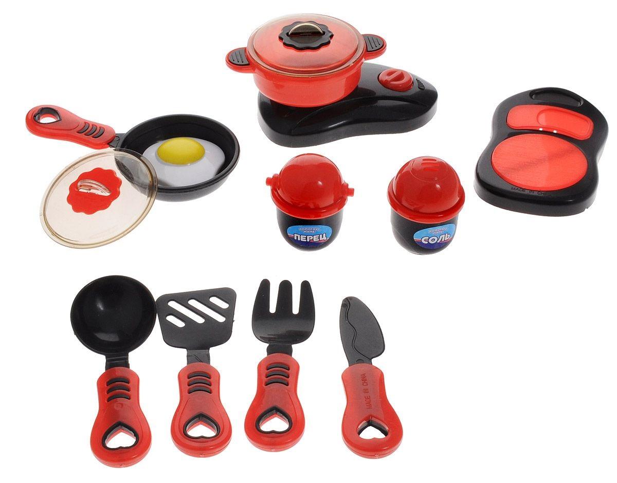 Купить Набор посуды для кухни с продуктами, в наборе 14 предметов, серия «Помогаю Маме», ABtoys