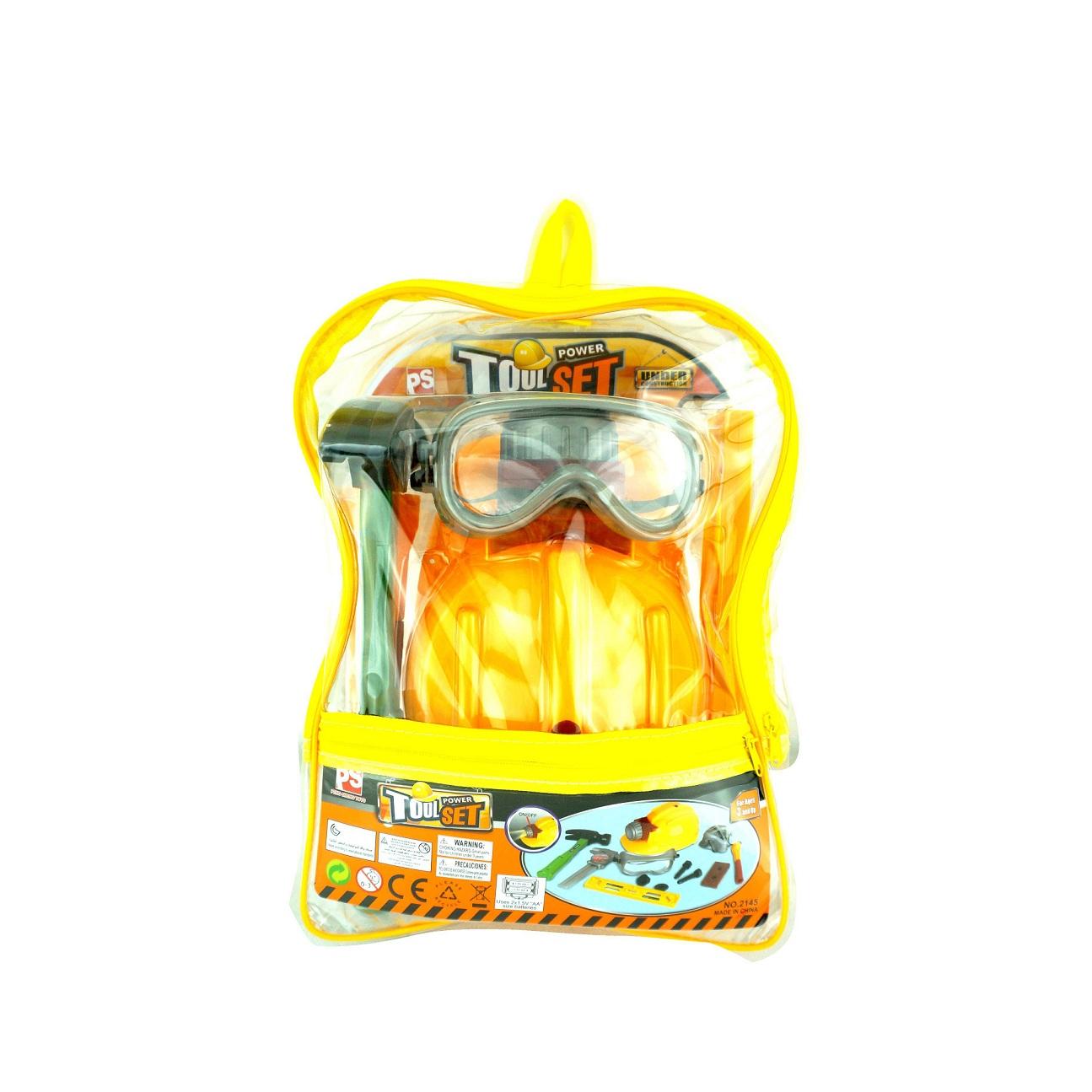 Купить Набор инструментов в прозрачном рюкзаке, 10 предметов, JUNFA TOYS