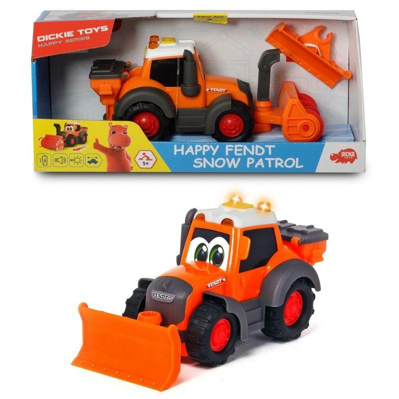 Купить Снегоуборочная машина Happy Fendt 21 см, свет и звук, Dickie Toys
