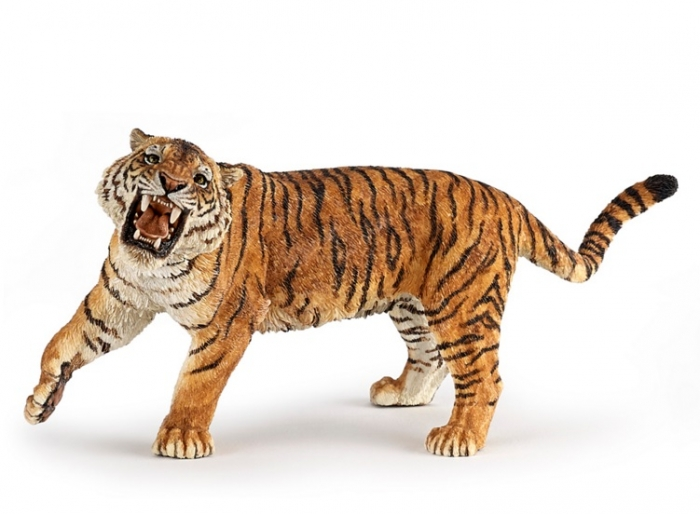 Игровая и коллекционная фигурка - Рычащий тигр фото
