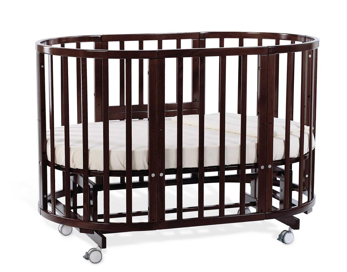 Кровать-трансформер Nuovita Nido Magia, цвет Темный орех / Noce scuroДетские кровати и мягкая мебель<br>Кровать-трансформер Nuovita Nido Magia, цвет Темный орех / Noce scuro<br>