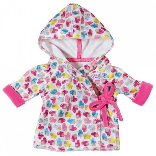 Одежда для куклы Baby Born - Халат с капюшономОдежда Baby Born <br>Одежда для куклы Baby Born - Халат с капюшоном<br>