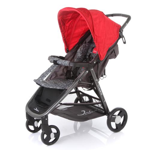 Коляска прогулочная Lugano с чехлом для ножек и капюшоном, краснаяДетские коляски Capella Jetem, Baby Care<br>Коляска прогулочная Lugano с чехлом для ножек и капюшоном, красная<br>