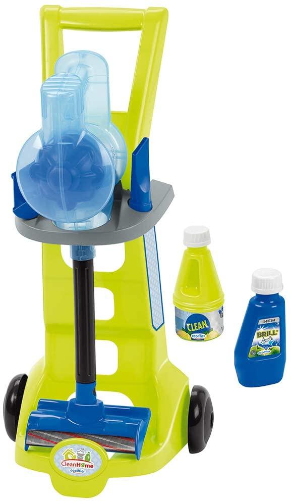 Детская тележка для уборки с пылесосом и аксессуарами