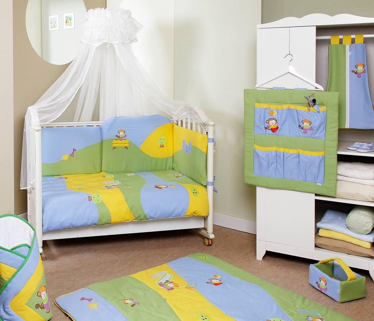 Комплект постельного белья Jolly лонг, 6 предметов, мультиколорДетское постельное белье<br>Комплект постельного белья Jolly лонг, 6 предметов, мультиколор<br>