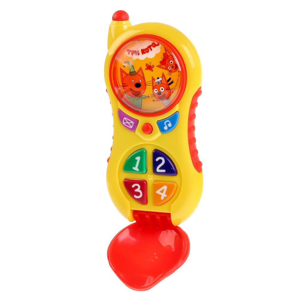 Купить Музыкальный телефон - Три Кота, 7 песен из м/ф, телефонные фразы, свет и звук, Умка