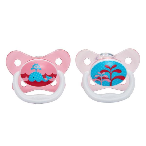 Пустышка PreVent Бабочка, 0-6 месяцев, с крышкой, для девочекТовары для кормления<br>Пустышка PreVent Бабочка, 0-6 месяцев, с крышкой, для девочек<br>