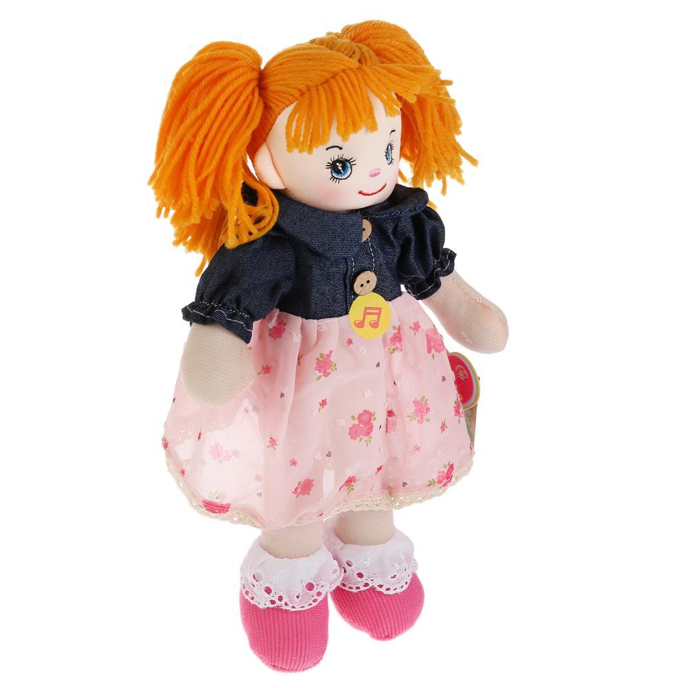 Купить Озвученная мягкая игрушка - Кукла, А. Барто, 5 песен и 2 стихотворения, 30 см, Мульти-Пульти