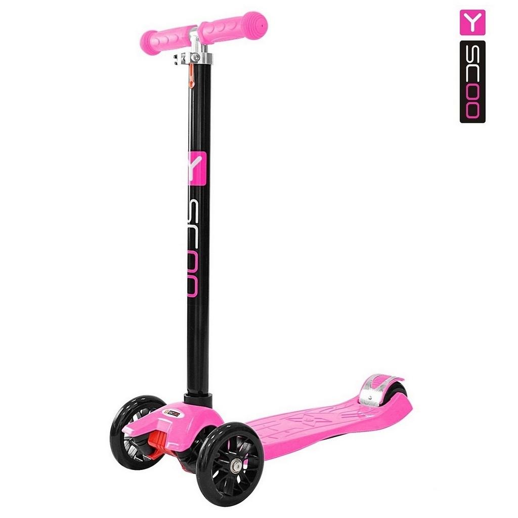 Купить Самокат Y-Scoo maxi A-20 Simple, розовый