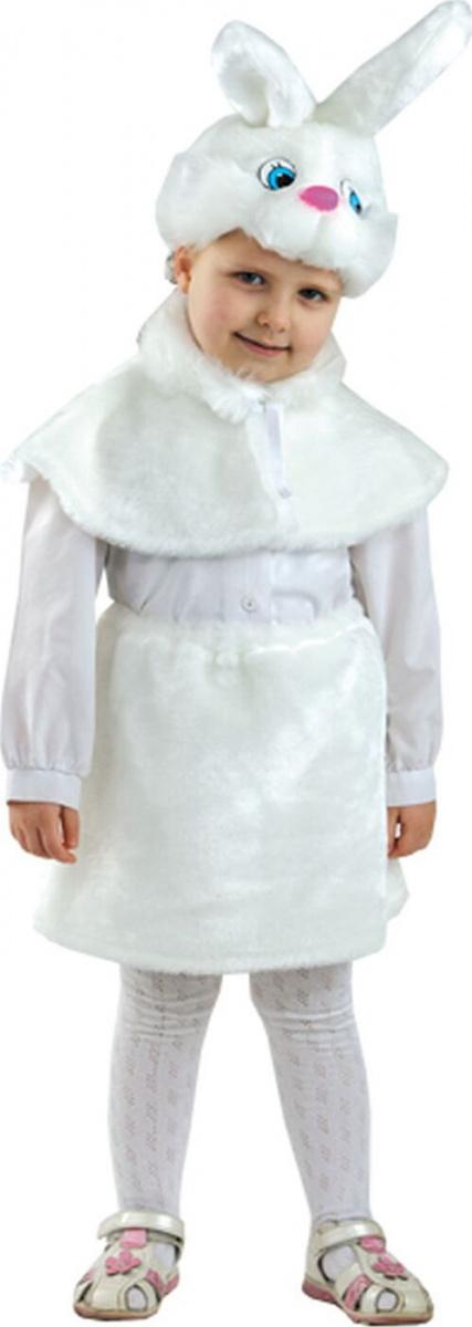 Костюм карнавальный Зайка с мехом, размер 28 детский Батик