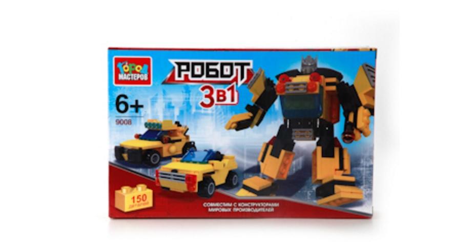Конструктор 3-в-1 Робот и Машина, 150 деталейГород мастеров<br>Конструктор 3-в-1 Робот и Машина, 150 деталей<br>