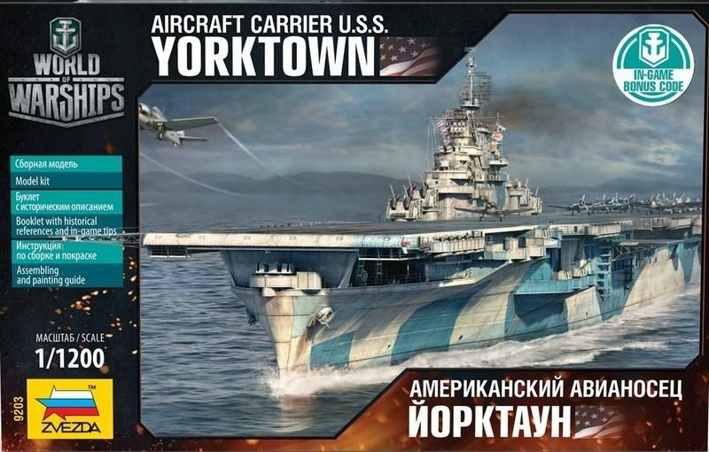 Модель сборная - Американский авианосец «Йорктаун»Модели кораблей для склеивания<br>Модель сборная - Американский авианосец «Йорктаун»<br>