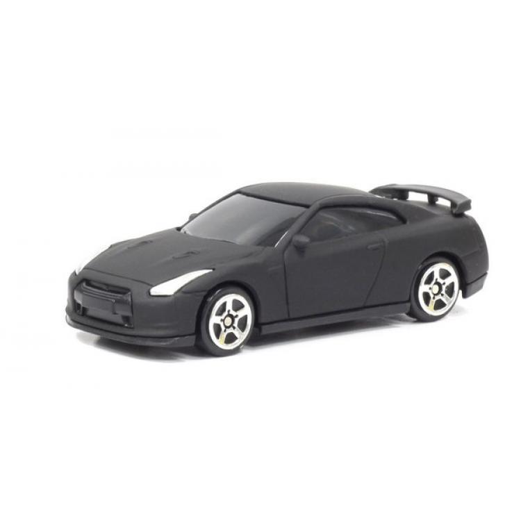Машина металлическая Nissan GTR R35, 1:64, черный матовый цветNISSAN<br>Машина металлическая Nissan GTR R35, 1:64, черный матовый цвет<br>