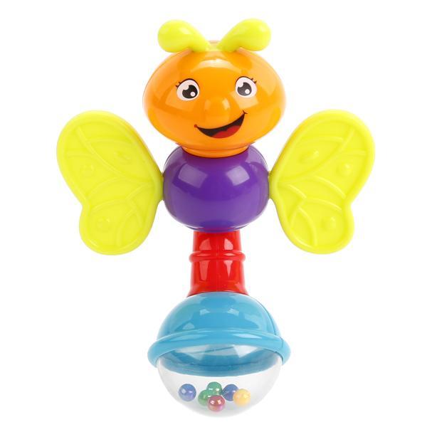 Погремушка-прорезыватель - БабочкаДетские погремушки и подвесные игрушки на кроватку<br>Погремушка-прорезыватель - Бабочка<br>