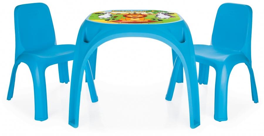 Стол с двумя стульями для детей KingИгровые столы и стулья<br>Стол с двумя стульями для детей King<br>