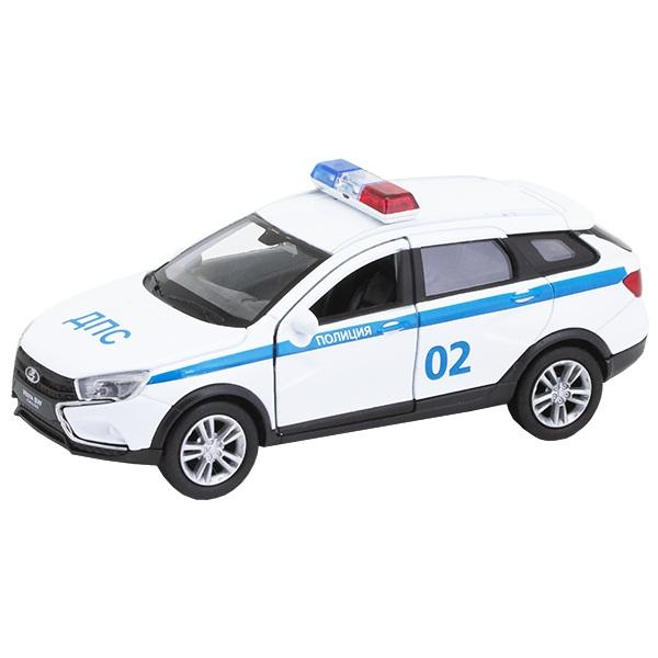 Купить Модель машины Lada Vesta Sw Cross - Полиция ДПС, 1:34-39, Welly