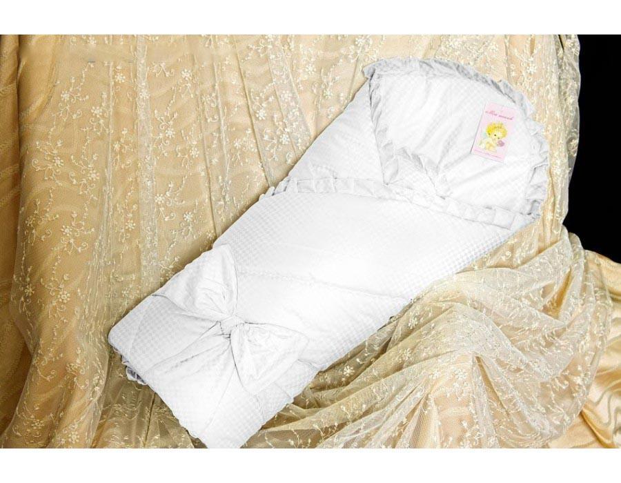 Конверт  одеяло на выписку – Солнышко, Р2015, весна, белый - Конверты, комплекты на выписку, артикул: 171318