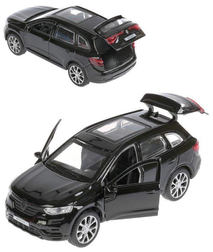 Купить Модель Renault Koleos 12 см, открываются двери, инерционный, черный, Технопарк