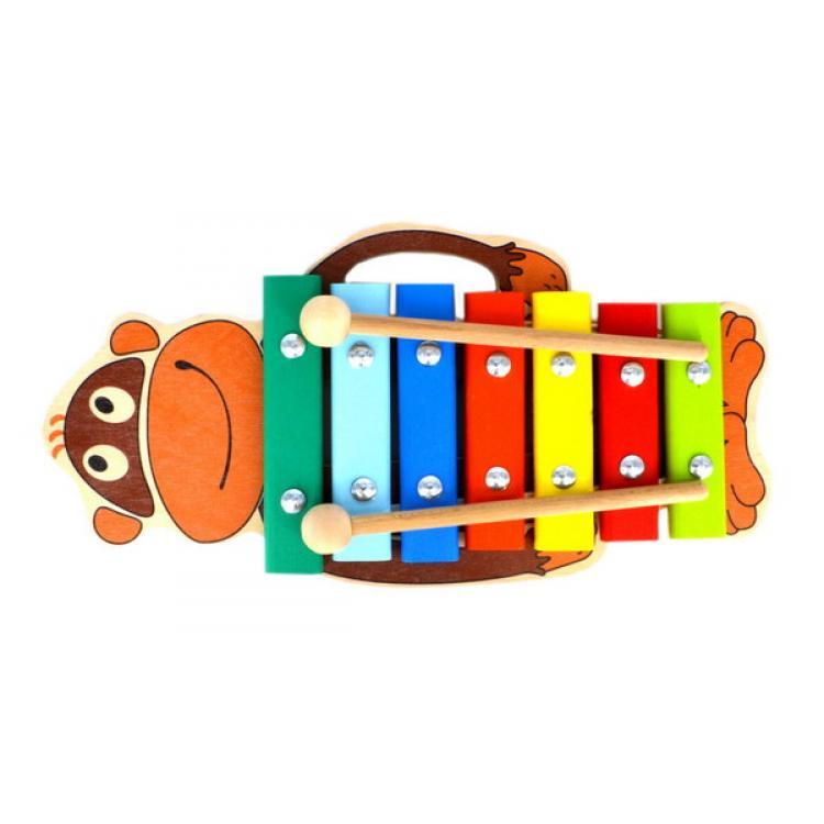 Ксилофон - Обезьяна 7 нот, окрашенныйКсилофоны<br>Ксилофон - Обезьяна 7 нот, окрашенный<br>