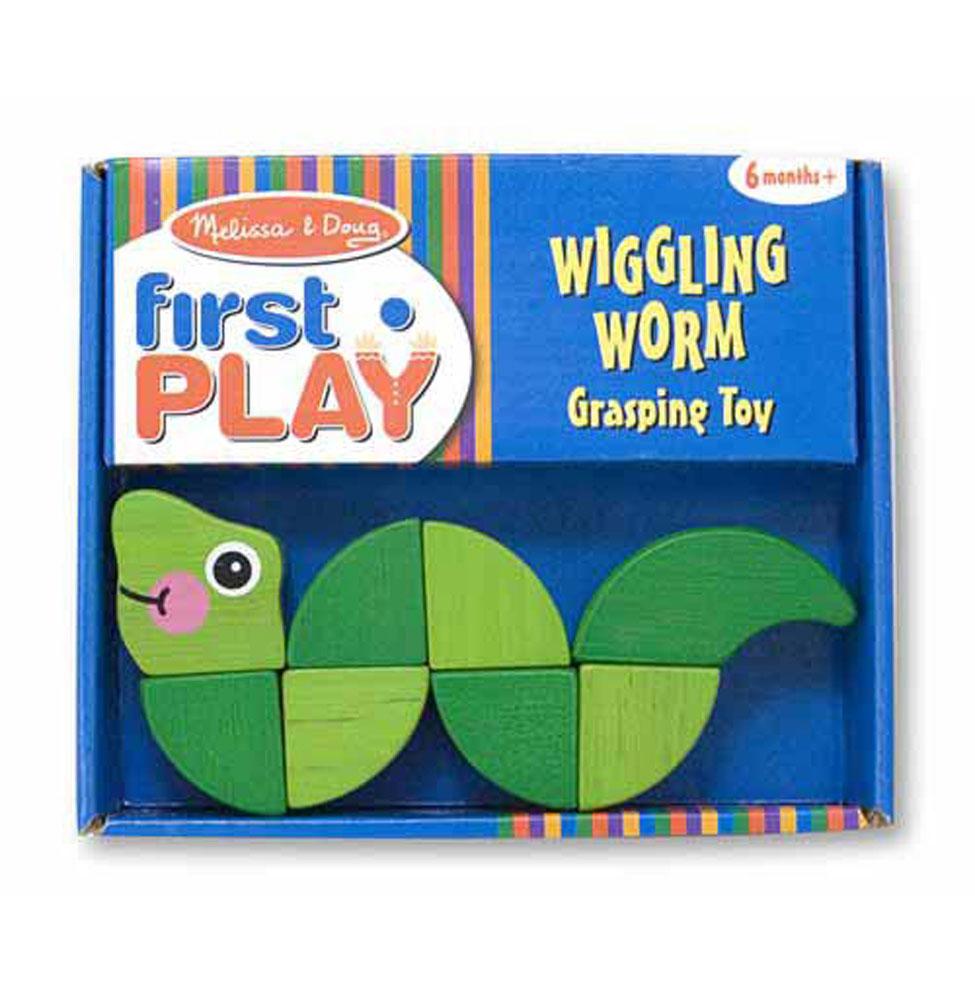 Деревянная развивающая игрушка - Первые навыки - ЧервячокРазное<br>Деревянная развивающая игрушка - Первые навыки - Червячок<br>