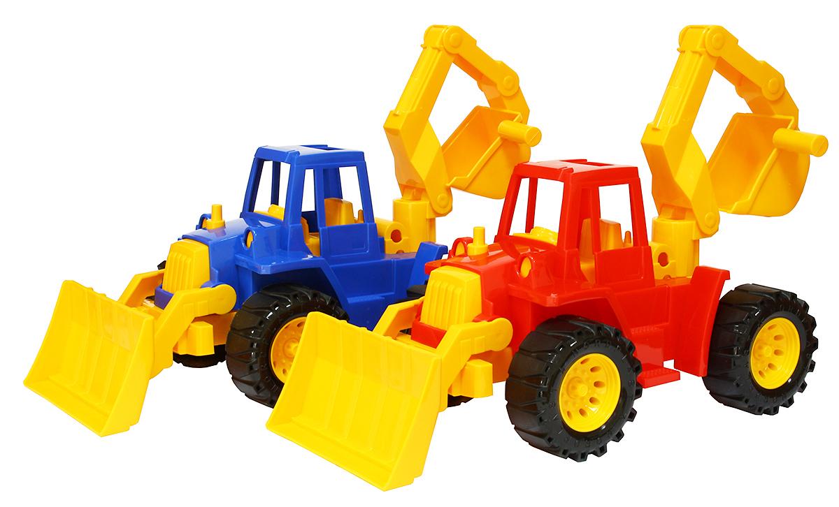 """Трактор """"Ангара"""" с грейдером и ковшом от Toyway"""