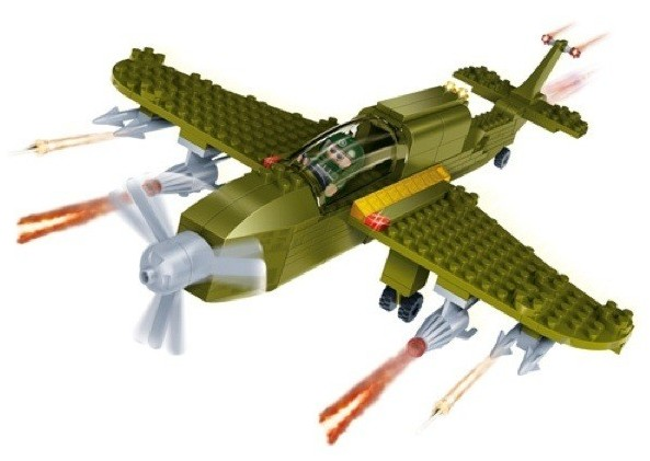 Купить Конструктор с аксессуарами - Военный самолёт, BanBao