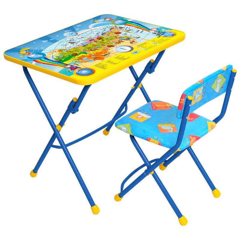 Набор детской мебели  Познаем мир, цвет  синий - Парты, артикул: 144798
