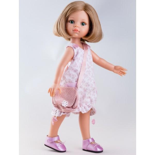 Кукла Карла в розовом платье, 32 см.