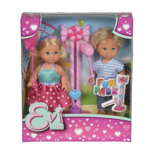 Кукла Еви и Тимми на аттракционах 12 cм.Куклы Еви<br>Кукла Еви и Тимми на аттракционах 12 cм.<br>