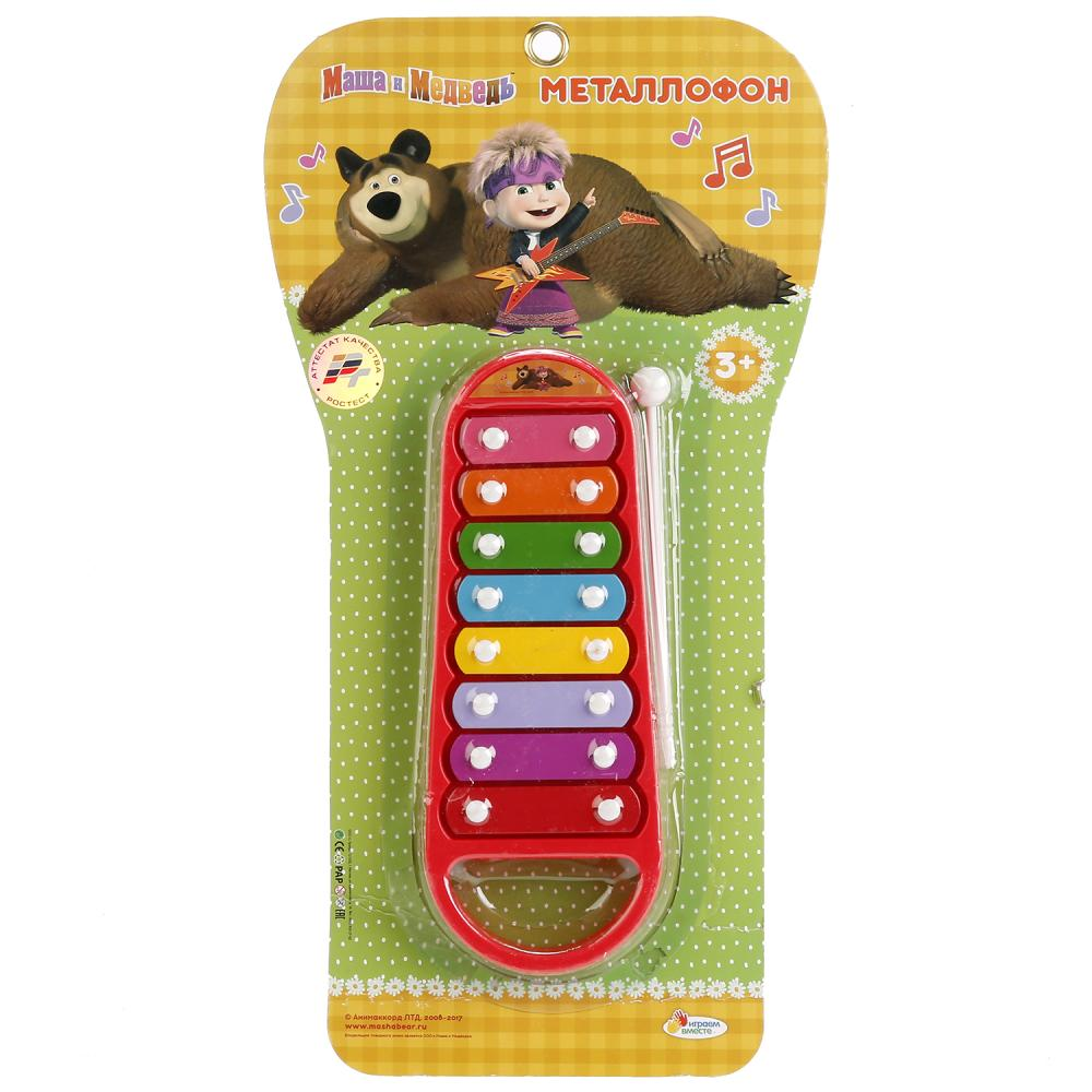 Купить Металлофон из серии Маша и Медведь на блистере, Играем вместе