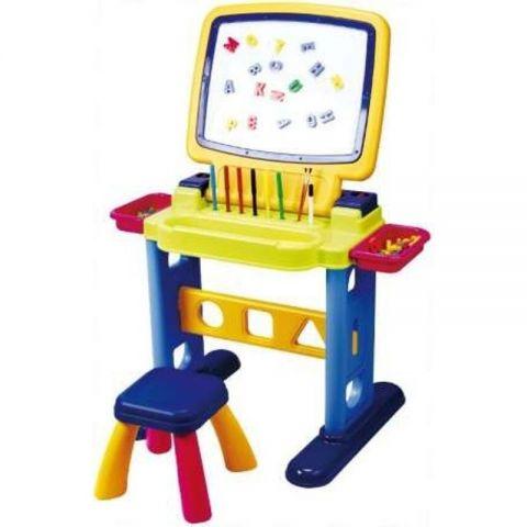 PlayGo Доска-парта для рисования с табуреткой