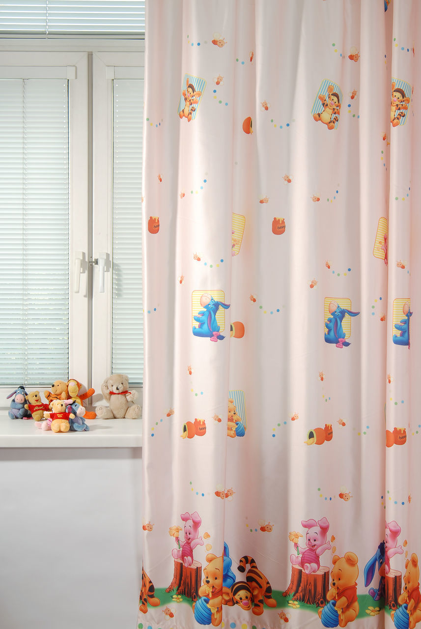 Портьера детская - Малыш Винни, персиковыйДекор и хранение<br>Портьера детская - Малыш Винни, персиковый<br>
