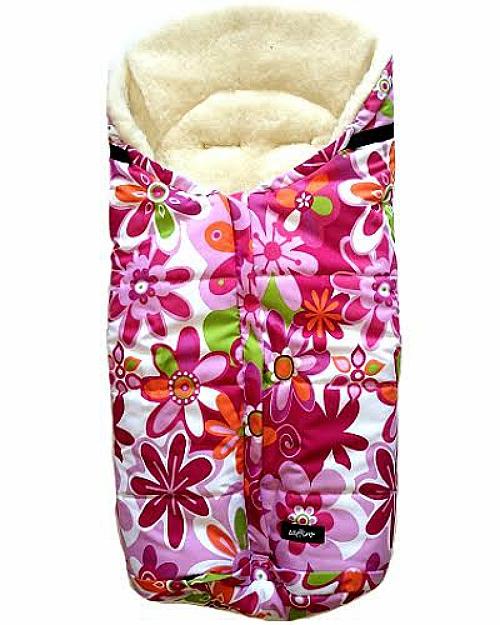 Спальный мешок в коляску №12 - Wintry, шерсть, розовые цветкиЗимние конверты<br>Спальный мешок в коляску №12 - Wintry, шерсть, розовые цветки<br>