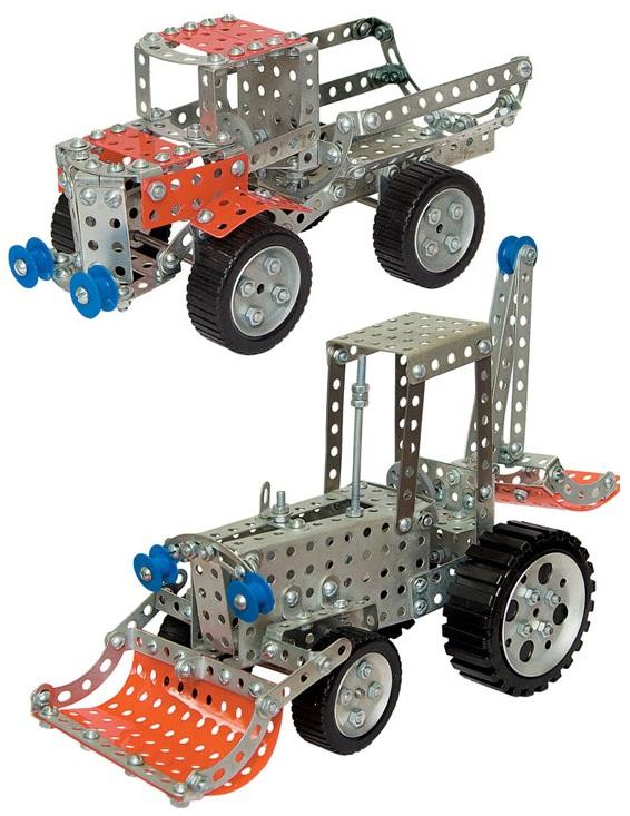 Конструктор металлический Грузовик и тракторИгрушечные тракторы<br>Конструктор металлический Грузовик и трактор<br>