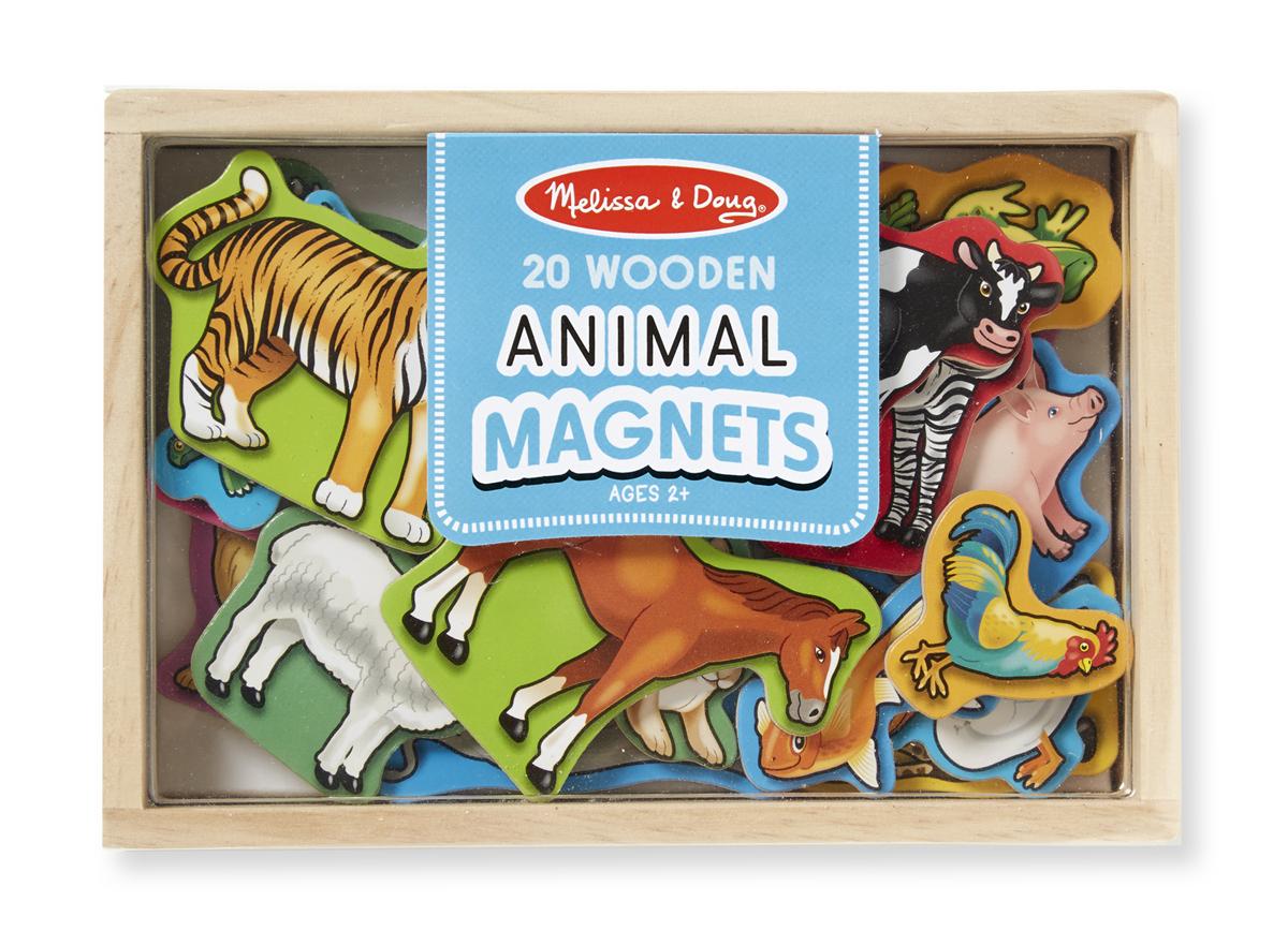 Деревянные магнитные животные из серии Магнитные игрыРазное<br>Деревянные магнитные животные из серии Магнитные игры<br>