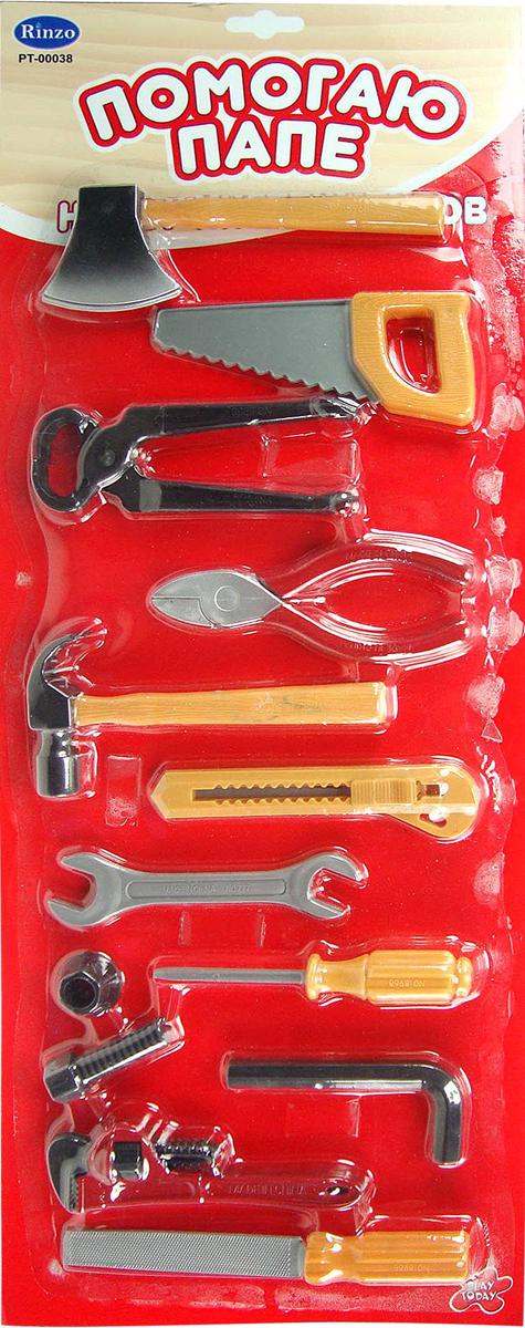 Игровой набор инструментов, 14 предметовДетские мастерские, инструменты<br>Игровой набор инструментов, 14 предметов<br>