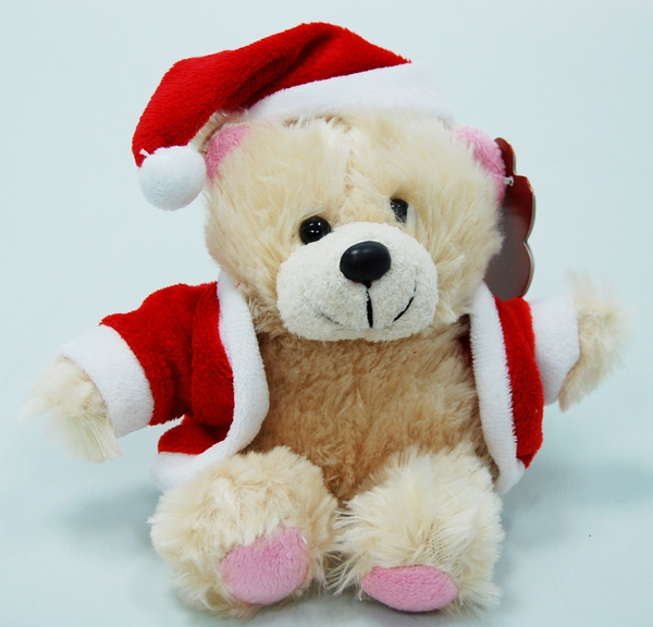 Мягкая игрушка - Медвежонок новогодний в костюме, 20 см от Toyway