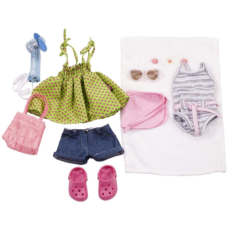 Набор летней одежды и аксессуаров, 10 предметовОдежда для кукол<br>Набор летней одежды и аксессуаров, 10 предметов<br>