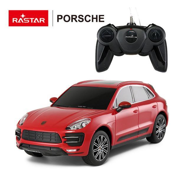 Купить Машина на радиоуправлении 1:24 Porsche Macan Turbo, цвет – красный, Rastar