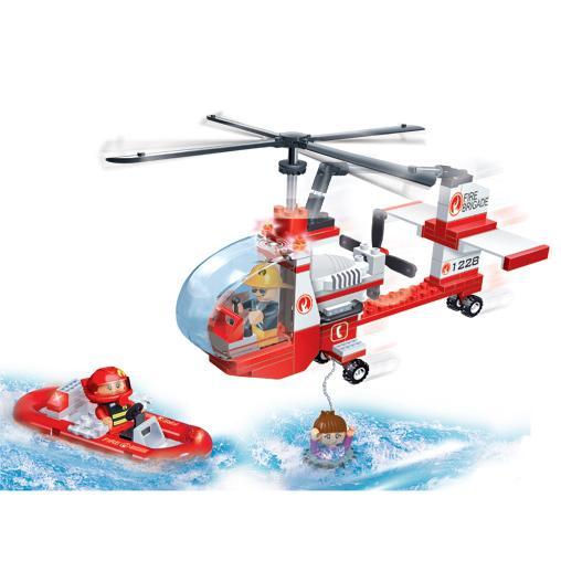 Игровой конструктор с аксессуарами  Пожарный вертолёт - Конструкторы BANBAO, артикул: 98268