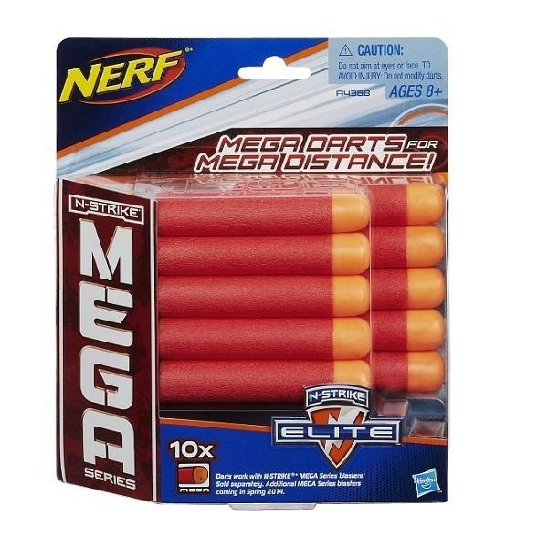 Купить Набор из 10 стрел для бластеров Нёрф Мега, от 8 лет, Hasbro