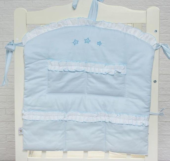 Купить Карман на кроватку из серии Три медведя, цвет – голубой, Bombus