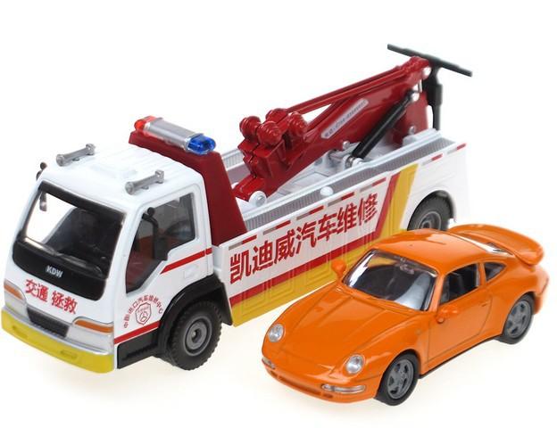 Эвакуатор металлический в наборе с машинкой, 1:50Городская техника<br>Эвакуатор металлический в наборе с машинкой, 1:50<br>