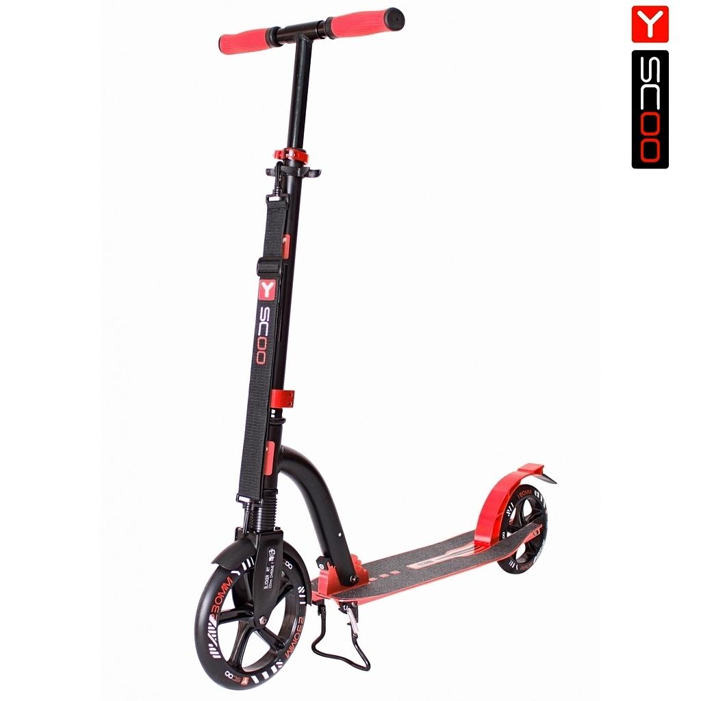 Купить Самокат Y-Scoo RT 230 Slicker Deluxe New Technology с амортизатором, красный