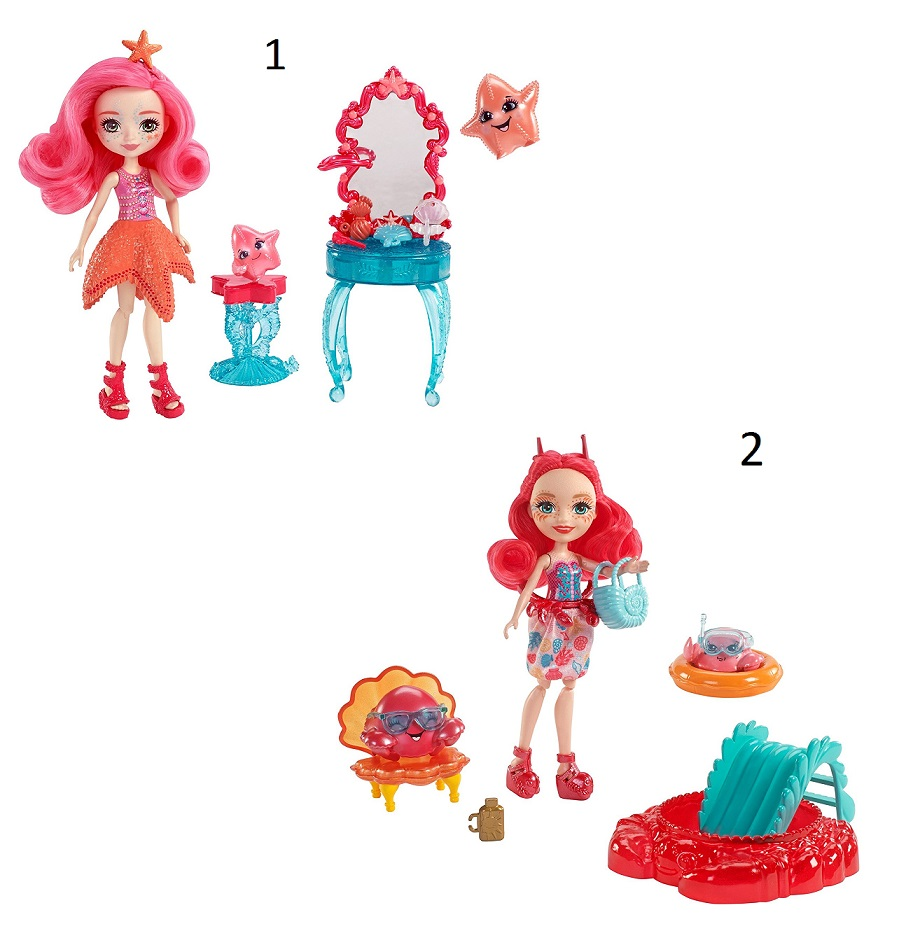 Купить Куклы Морские подружки из серии Enchantimals, с тематическим набором аксессуаров, 2 вида, Mattel