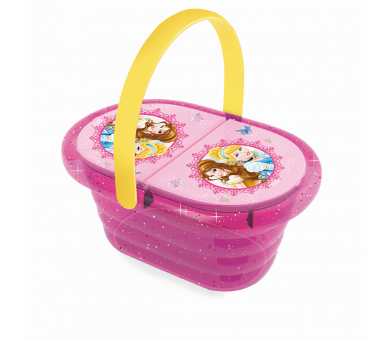 Набор посудки в корзинке пикник Принцессы ДиснеяАксессуары и техника для детской кухни<br>Набор посудки в корзинке пикник Принцессы Диснея<br>